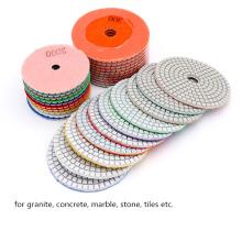 Flexible Resin Diamond WET Polishing Pad for Granite Marble Angle Grinder