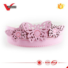 Rosa Farbe Mädchen Schmetterling Wölbung Gürtel
