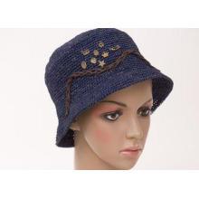 3cm Short Brim Raffia Childrens Sun Hats , Red Crochet Chil