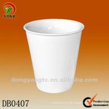 200cc personalizado brilhante isolar quente xícara de porcelana parede dupla
