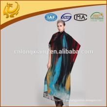 España 2015 Bufandas de seda de moda del nuevo estilo Chaleco al por mayor de Pashmina, mantón de seda del flamenco