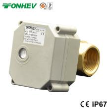 Dn15 1/2 '' Válvula de bola de latón de 2 vías Válvula de drenaje automática eléctrica DC5V / 12V / 24V