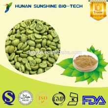 Organic Pharmaceutical Raw Material Food and Beverage Additive Green Coffee Bean P.E. Green Coffee Bean Extract Powder