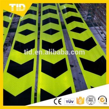 f.yellow green, hard backing, Arrow Reflective Sticker Tape