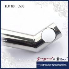 Braçadeira de prateleira de vidro de segurança de alta qualidade de 135 graus para vidro