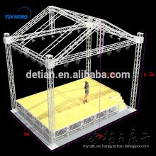 Cercha de escenario de aluminio, armadura de techo, sistema de cercha de techo circular # 003