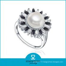 Bague à bijoux en perles AAA à la main poli (SH-R0476)