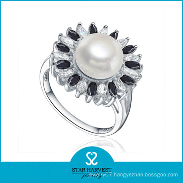Polished Handmade AAA Pearl Jewelry Ring (SH-R0476)