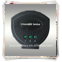 High Quality MINI 3PORT HDMI SWITCH (Three HDMI input signals switched to a single HDMI sink devices)