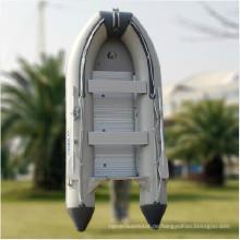 Aufblasbares Fischerboot aus festem Rumpf aus Fiberglas