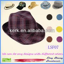 2013 Großhandelspreis Baumwolle Fedora Hut Art und Weise Mens Hüte Cowboy Hut, LSF07