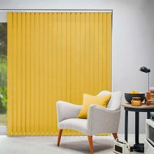 Yellow Wide Vertical Blinds