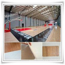 Roll Indoor PVC Sports Floor /Basketball Floor/Mat Fiba Certificate Wooden Surface