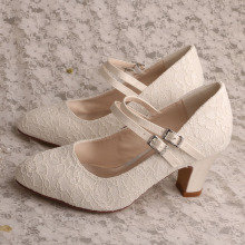 Block+Heel+Wedding+Shoes+for+Bride+with+Laces