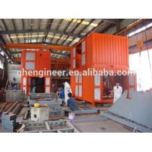 Máquinas de pesagem e ensacamento em contentores móveis