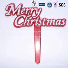 Escolhas decorativas plásticas do Feliz Natal