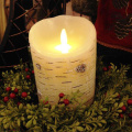 Premie Flicker vlamloze Birch Wax Pillar Candle