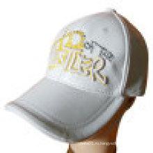 Кожаная бейсбольная кепка с вышивкой (LT-1)