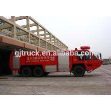 Camión de bomberos / polvo de la lucha contra el fuego de la transferencia rápida del aeropuerto 6 * 4 camión de bomberos / camión de bomberos de la escalera / camión de bomberos del aeropuerto