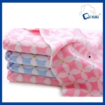 Serviette de visage jacquard 100% coton teint en fil de coton