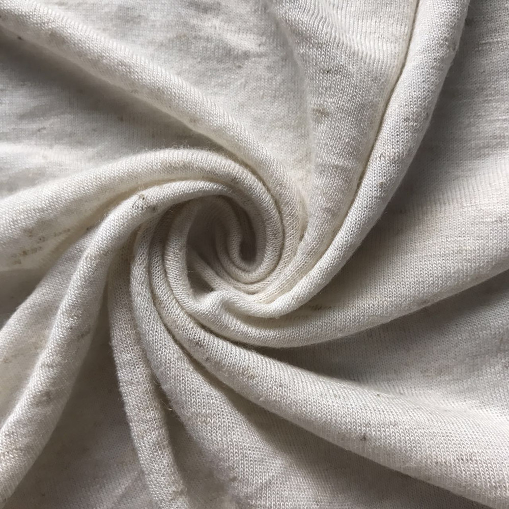 Rayon viscose linen blended knitted fabric