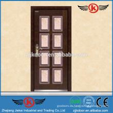 JK-A9022 pavo blindado puerta / acero puerta de madera con bisagra
