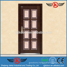 JK-A9022 turkey armored door/ steel wooden door with hinge