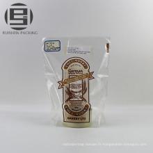 Sac plat imprimé en plastique de bopp pour le gâteau de pain
