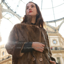 Kvinnor Mink Fur Coat
