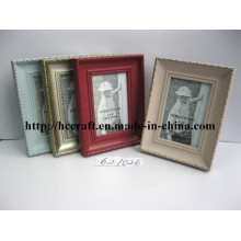 Wooden Gesso Photo Frame with Foil in Different Color