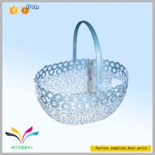 New design kitchen accessory picnic basket wholesale embossing decoration wire mesh fruit basket