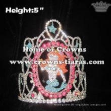 Wholesale Crystal Mermaid Ariel Pageant Crowns