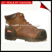 Sapatos de segurança com dedo de aço e revestimento de impermeabilização