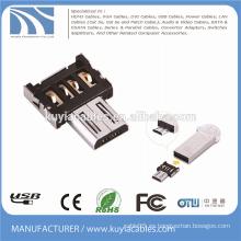 Micro USB OTG Adaptador Mini estilo micro al convertidor usb2.0 para Smartphone conecta Ratón Teclado USB flash disk
