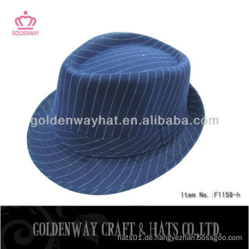 Gangster Hut blau mit Nadelstreifen