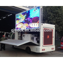 4x2 Dongfeng stage truck /P10 / P8 /P6 led screen stage truck/ light truck mobile advertising led display on sale
