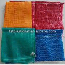 Bolsos de malla de PP leno para paquete de verduras, bolsas red circulares