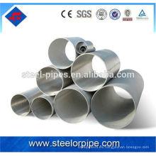 En tubería de acero de acero inoxidable