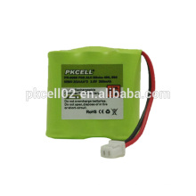 Ni-Mh Cordlessphone battery pack 2/3 AAA*3 3.6V 300mah By pkcell