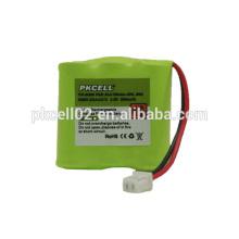 Ni-Mh bateria sem fio 2/3 AAA * 3 3.6V 300mah Por pkcell