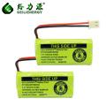 Paquetes recargables de la batería de 2.4V 300mAh NI MH AAA para el teléfono sin cuerda