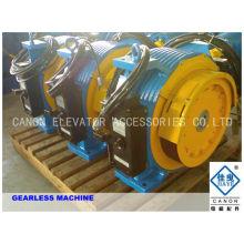 800kg 10 personas imán permanente síncrona máquina tracción Gearless de ascensor