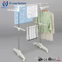 Multi-usages inox deux couche Clothes Rack Dring