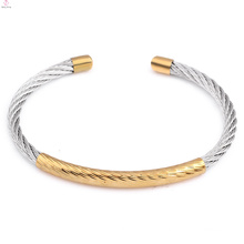 2018 Fashion Simple Adjustable Bangle Classics Cuff Stainless Steel Cable Bracelet