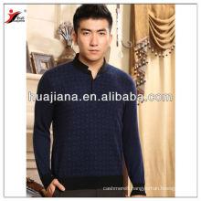 Chinese mock neck antipilling cashmere men's sweater