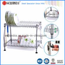Bastidor patentado del drenaje del plato de la cocina del metal del cromo de DIY