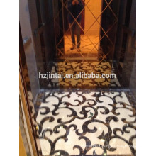 luxury decoration 450 kg small Passenger elevator for 5 persons for hotel use
