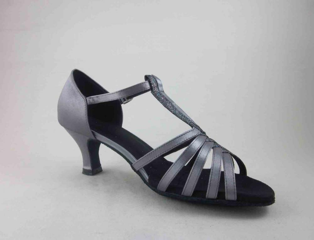 Ladies Grey Satin Dance Shoes Usa