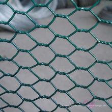 Red de pollo hexagonal de alta calidad verde PVC