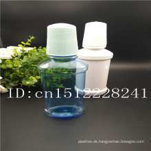 Heiße Verkauf Plastik weiße Kappe und Normallack flache Flaschen für mouthwash120ml 230ml 250ml